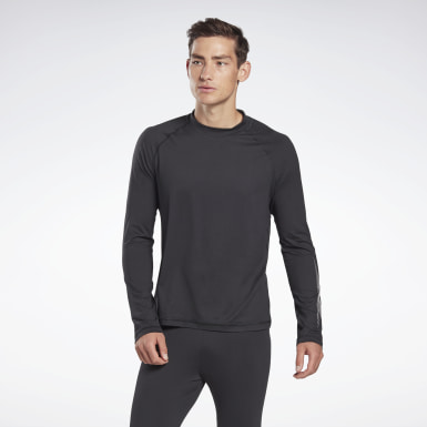 Men Hiking Black Thermowarm Touch Graphic Base Layer Top