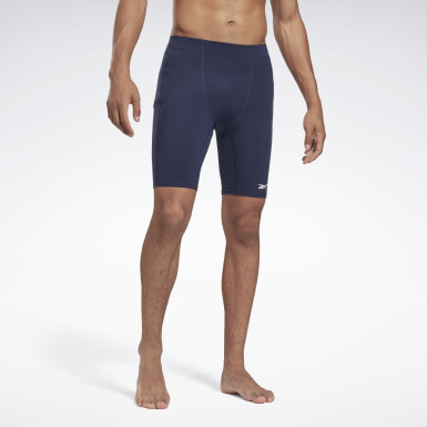 Heren HIIT Blauw United by Fitness Compressieshort