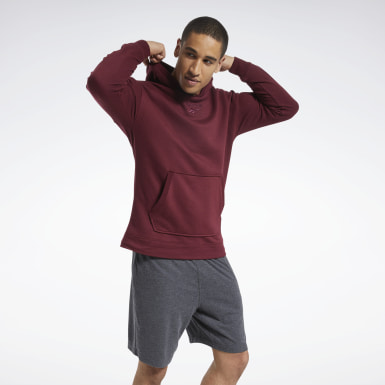 Sweat à capuche chiné Training Essentials Bordeaux Hommes Fitness & Training