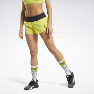 Women Training Yellow Reebok CrossFit® Shorts