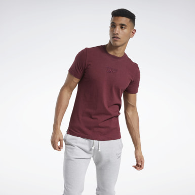 Men Fitness & Training Red Training Essentials Mélange Tee