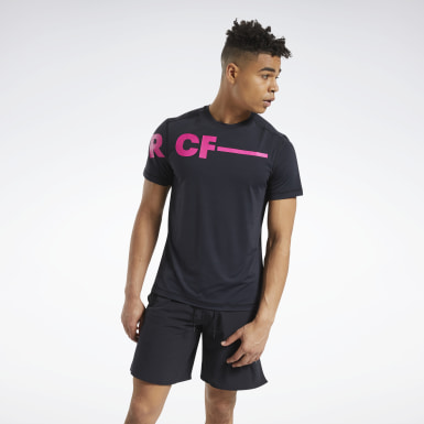 Men Cross Training Black Reebok CrossFit® ACTIVCHILL T-Shirt