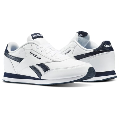 Men Classics White Reebok Royal Classic Jogger Shoes