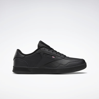 Men Classics Black Reebok Club MEMT Wide 4E Men's Shoes