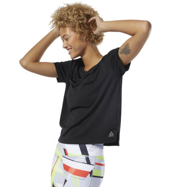 Dames Fitness & Training Zwart WOR Poly Tee Solid