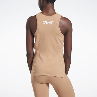 Women Training Beige VB Performance Tank Top