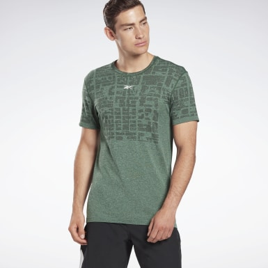 Men Studio Green LES MILLS® Myoknit Seamless T-Shirt