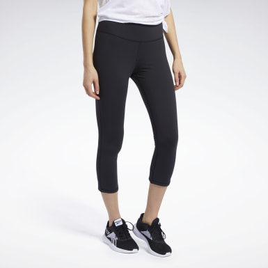 Women Training Black Reebok Lux 3/4 Length 2 Leggings