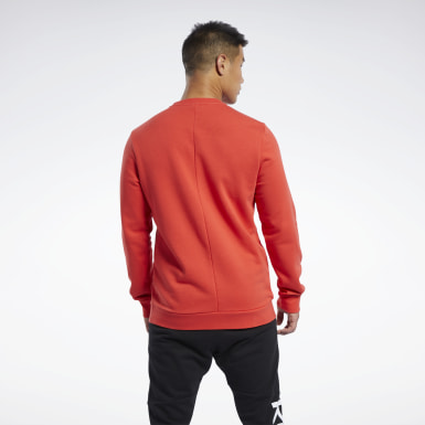 Buzo Training Essentials Linear Logo Rojo Hombre Fitness & Training