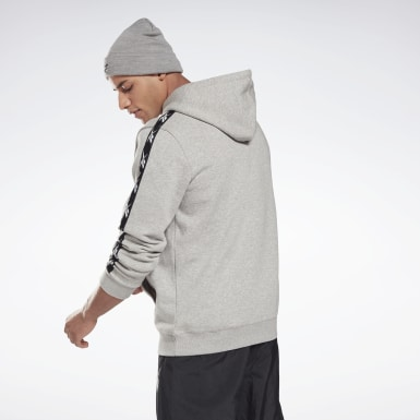 Men Fitness & Training Grey Training Essentials Tape Hoodie