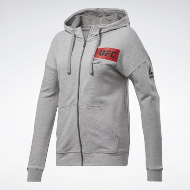 Women Combat Grey UFC Fight Week Hoodie