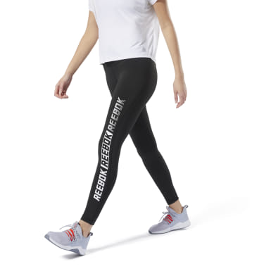 Women Studio Black Studio Reebok Lux Tights - Graphic