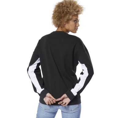 Women Classics Black Classics French Terry Big Logo Crew Sweatshirt