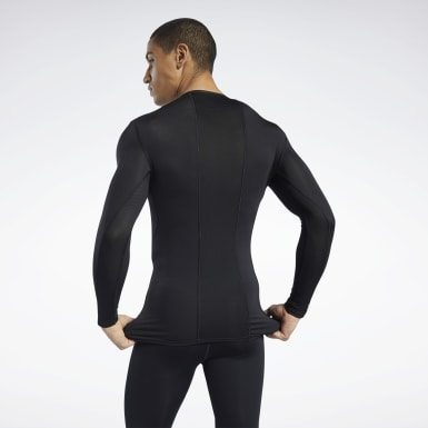 T-shirt Workout Ready Compression Nero Uomo Hiking