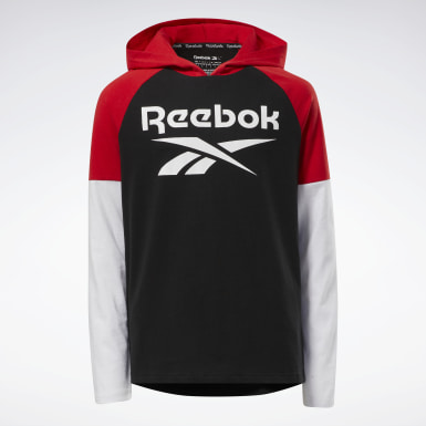 Boys Fitness & Training Black Reebok Performance Pullover
