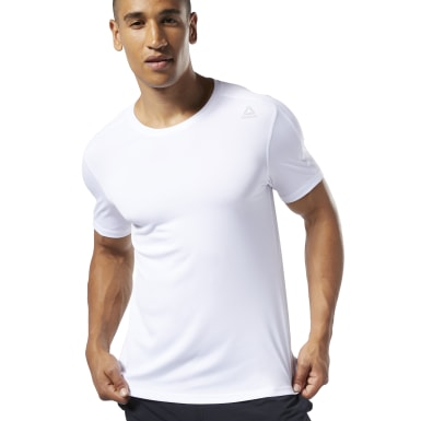 Men Fitness & Training White Training T-Shirt