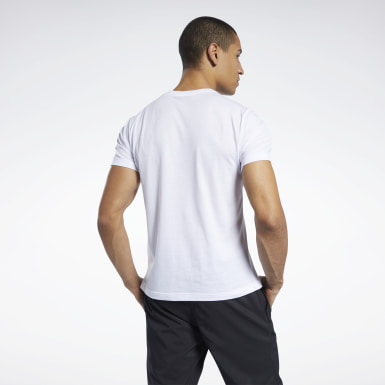 Men Cross Training White Graphic Series Linear Logo Tee