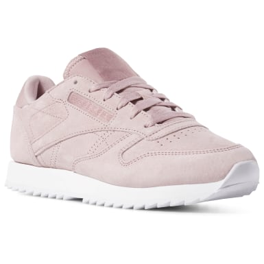 Women Classics Pink Classic Leather Ripple