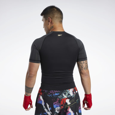 Men Fitness & Training Black Combat CMG Rash Guard