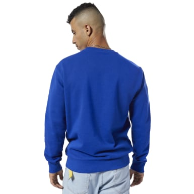 Men Classics Blue Classics French Terry Big Iconic Crewneck