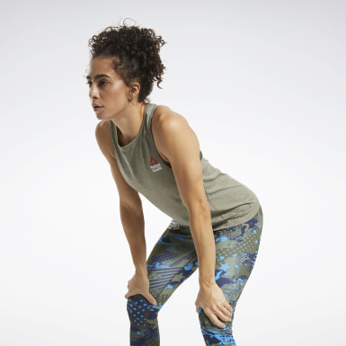 Débardeur Reebok CrossFit® ACTIVCHILL+COTTON Vert Femmes Cross Training