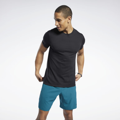Camiseta Workout Ready Jersey Tech Negro Hombre Yoga
