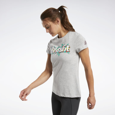 Women Cross Training Grey Reebok CrossFit® Holiday Tee