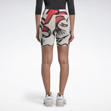 Women Classics White Reebok by Pyer Moss Sankofa Bike Shorts