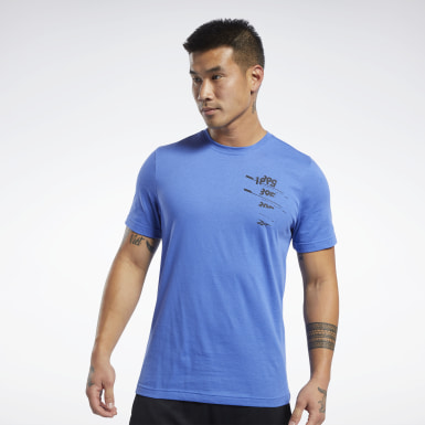 Männer Fitness & Training Graphic T-Shirt Blau