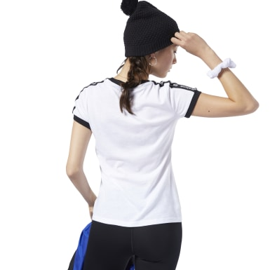 Women Fitness & Training White Training Essentials Linear Logo Tee