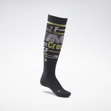 Chaussettes montantes de compression CrossFit® Noir Cross Training
