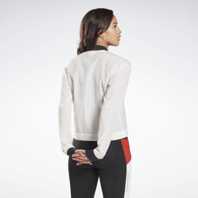 Chamarra Bomber One Series Running Blanco Mujer Running