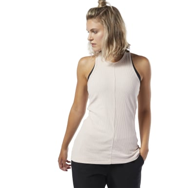 Women Training Pink Training Essentials Ribbed Tank Top