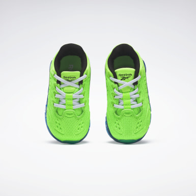 Boys Classics Green Zig Kinetica Shoes