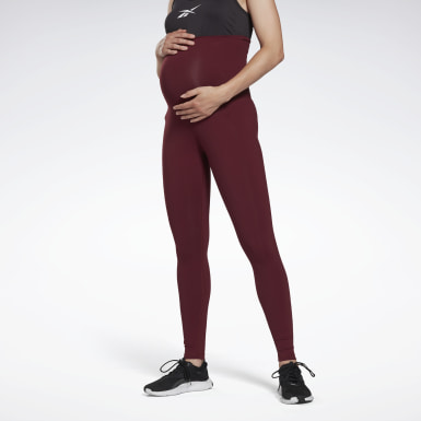 Dam Studio Burgundy Reebok Lux Maternity Tights 2.0