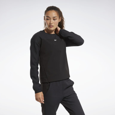 Women Fitness & Training Black Thermowarm DeltaPeak Crew Sweatshirt