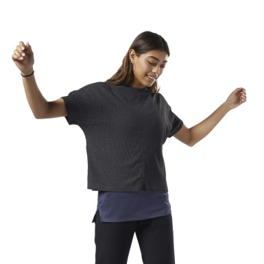 Women Training Black Training Essentials Ribbed Tee
