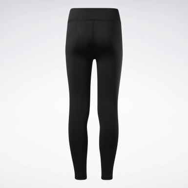 Girls Fitness & Training Black Reebok Logo Leggings
