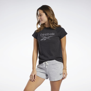 Women Fitness & Training Black Training Essentials Logo Tee