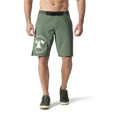 Men Training Green Retro Winter Epic Short