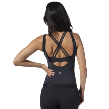 Women Studio Black Cardio Bodysuit