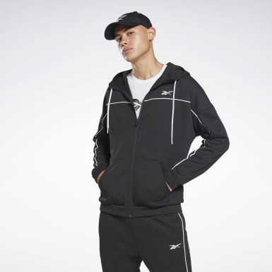 Herr Fitness & Träning Svart Workout Ready Doubleknit Zip-Up Hoodie