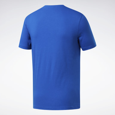 T-shirt Graphic Series Reebok Stacked Blu Uomo Fitness & Training