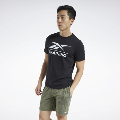 Men Cross Training Black Reebok Specialized Training T-Shirt