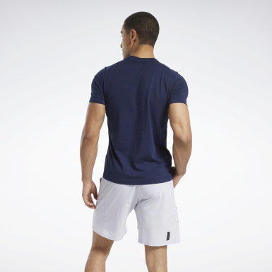 Mænd Cross Training Blue Reebok Running Tee