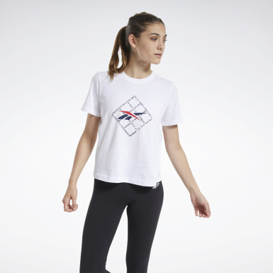 GRID ALL OVER TEE Blanco Mujer Classics