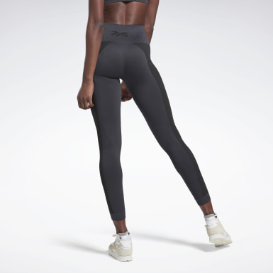 Women Training Grey VB Seamless Tights
