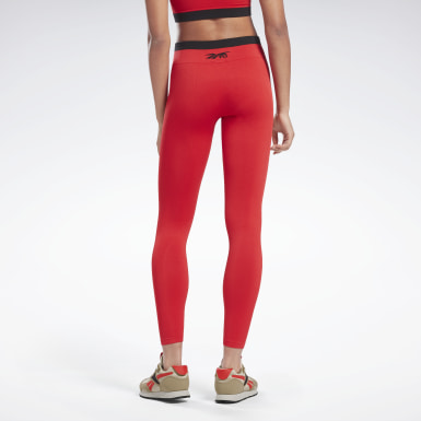 Women Training Red VB Seamless Tights