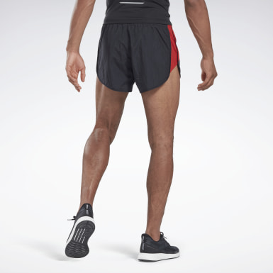 Men Running Black Heritage Run 3 Inch Split Shorts