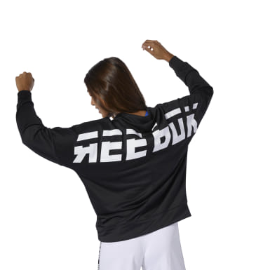 Women Fitness & Training Black WOR Meet You There Graphic Funnel Hoodie